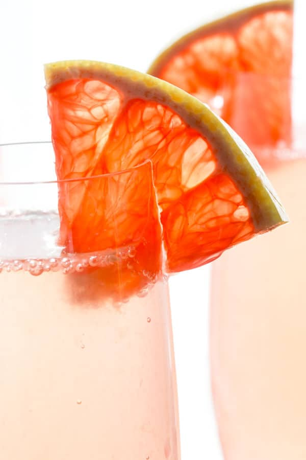 grapefruit champagne cocktail - Healthy Seasonal Recipes