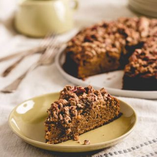 Maple Sweet Potato Coffee Cake by Katie Webster from her cookbook, Maple, 100 Sweet and Savory Recipes Featuring Pure Maple Syrup {QUIRK BOOKS, 2015} healthyseasonalrecipes.com