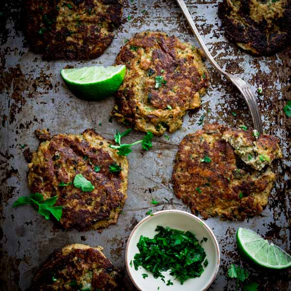 Mexican Cauliflower Patties ~ low-carb, gluten-free and vegetarian