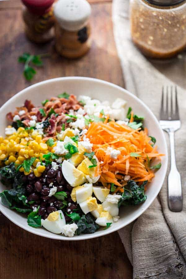 Southwest Cobb Kale Salad by Katie Webster on HealthySeasonalRecipes.com, naturally glutenfree