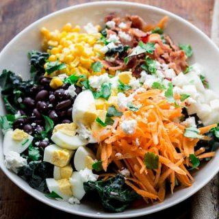 Southwest Cobb Kale Salad on Healthy Seasonal Recipes