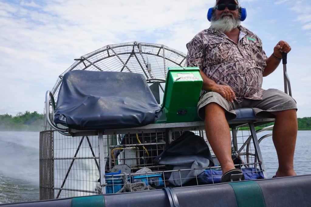 Fan Boat Ride Florida Vacation