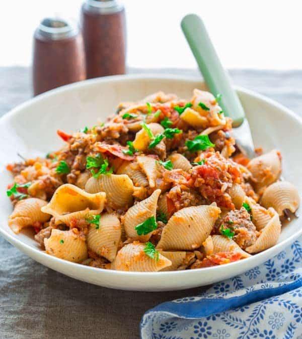 healthy american chop suey