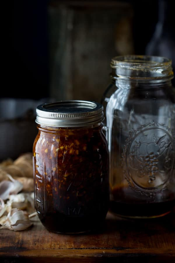 Maple Teriyaki Marinade in a jar