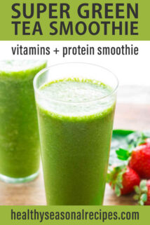 two cups of green tea smoothie