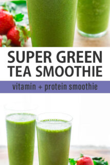 green tea smoothie collage