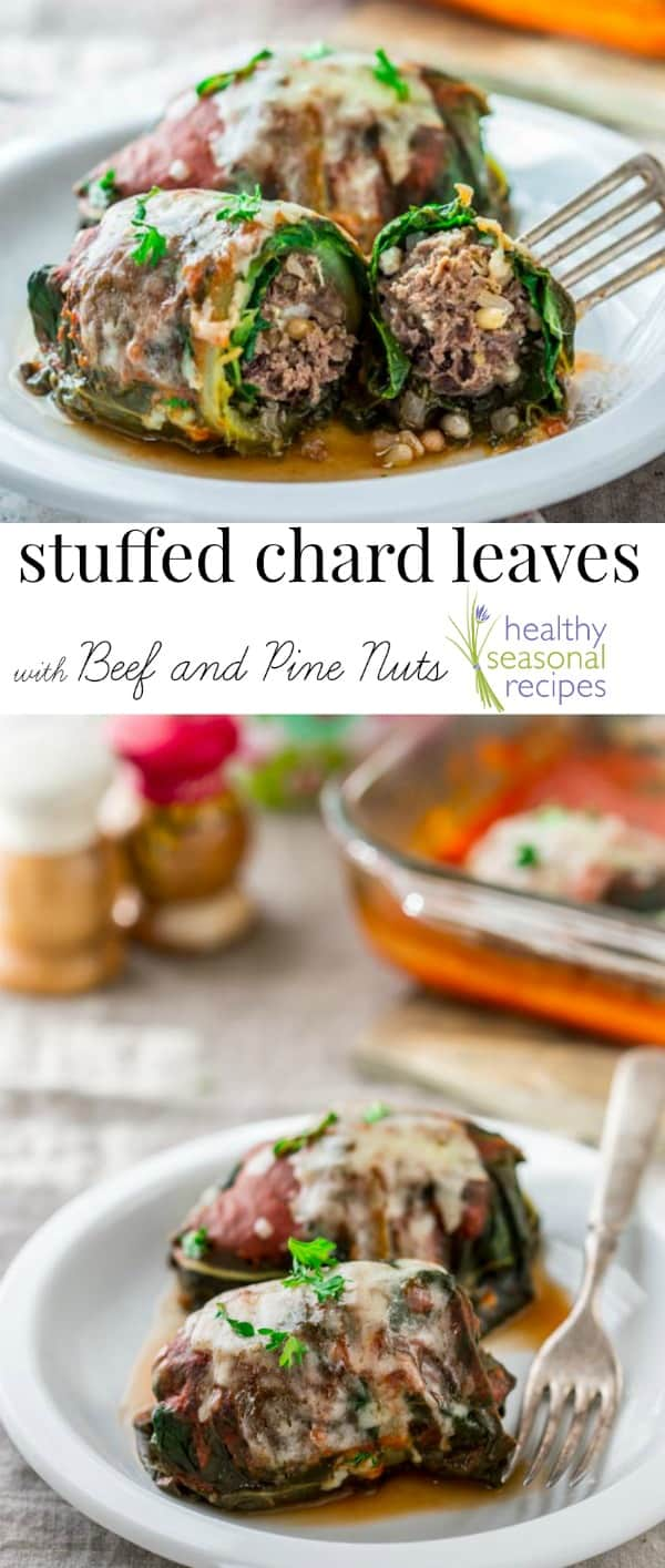 stuffed chard leaves with beef and pine nuts - Healthy ...