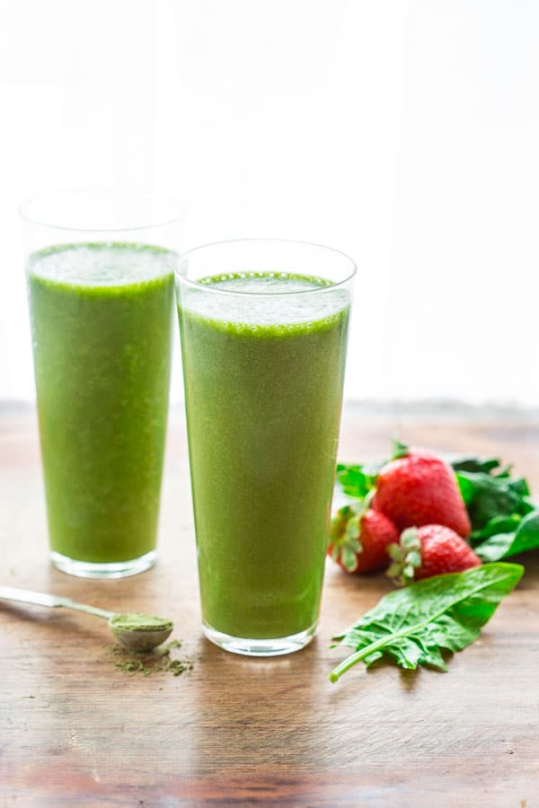 Super Green Tea Antioxidant Smoothie {only 200 calories, high in fiber ...