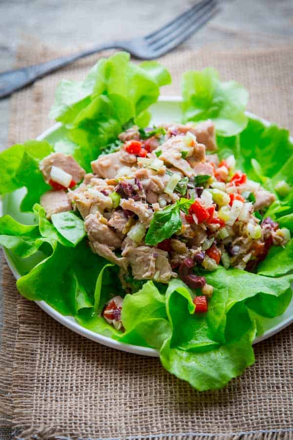 mediterranean tuna salad - Healthy Seasonal Recipes