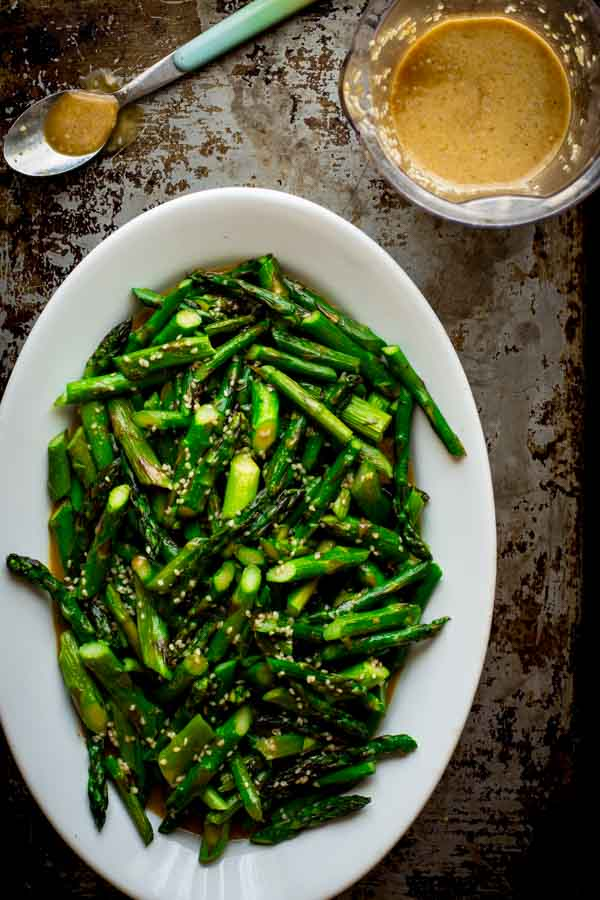 Sesame Roasted Asparagus Salad on Healthy Seasonal Recipes