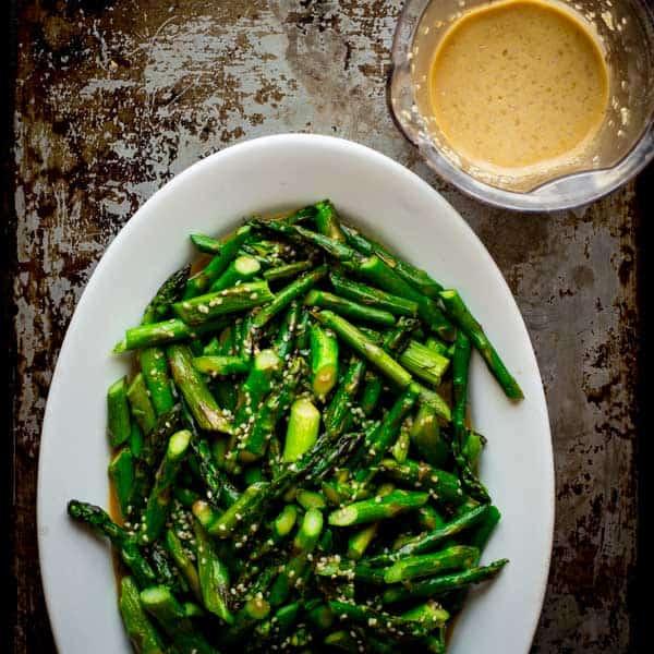 Sesame Roasted Asparagus Salad