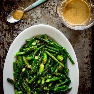 Sesame Roasted Asparagus Salad on Healthy Seasonal Recipes, naturally vegan and gluten-free