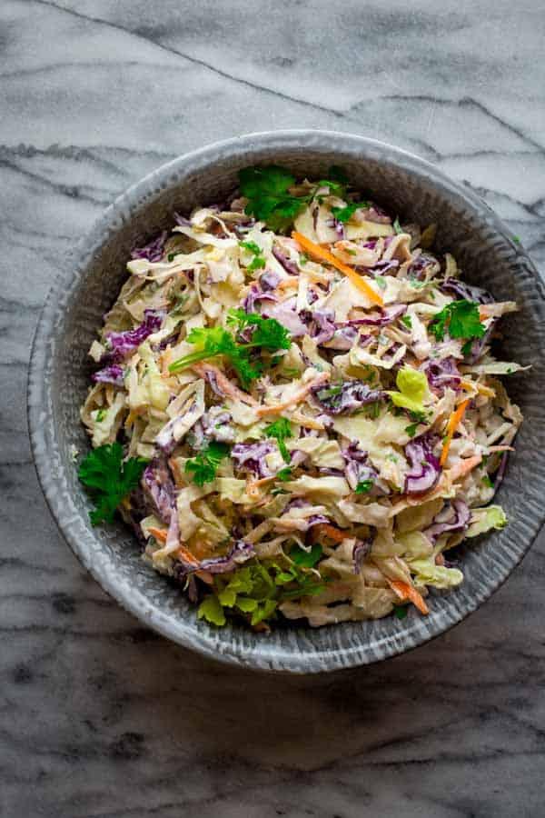 healthy coleslaw dressing