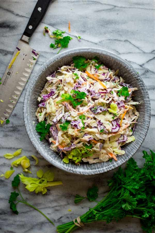 skinny classic coleslaw