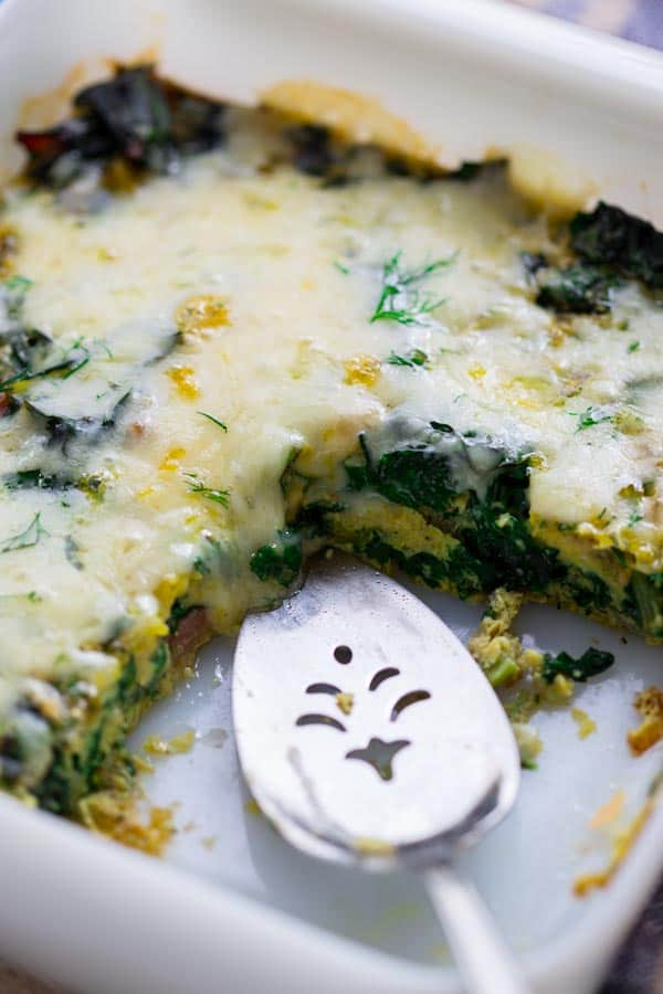 Get your greens at breakfast with this simple Chard and Egg Bake by Healthy Seasonal Recipes. This also makes a great main course for dinner too.