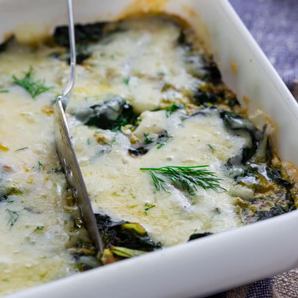 chard and egg bake