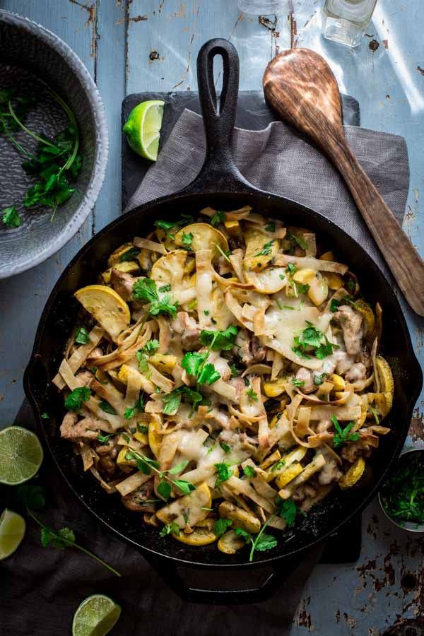 Chicken Tortilla Skillet, a simple gluten-free weeknight meal on Healthy Seasonal Recipes