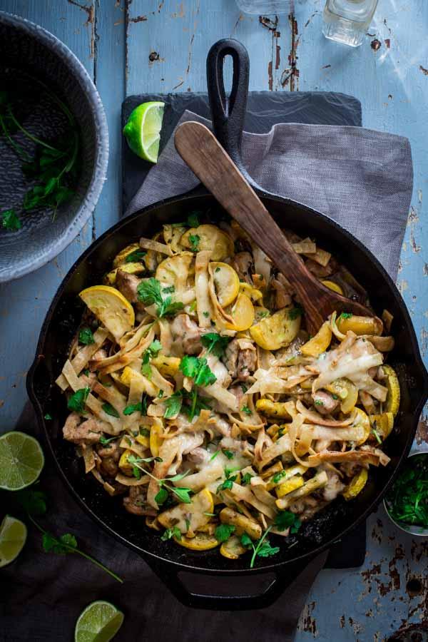 chicken tortilla skillet