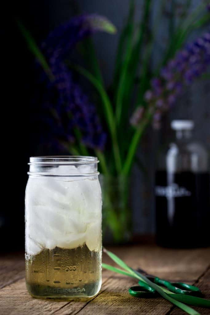 homemade switchel in a glass jar