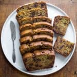 Healthy Chocolate-chip Zucchini Bread recipe on Healthy Seasonal Recipes