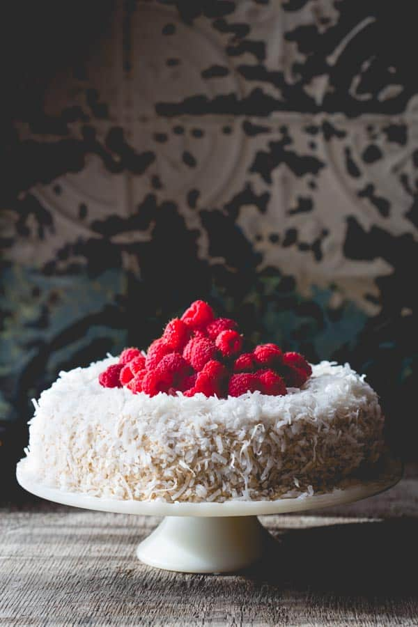 Coconut Raspberry Greek Yogurt Layer Cake Healthy