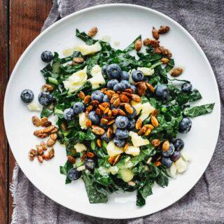 closeup of kale salad