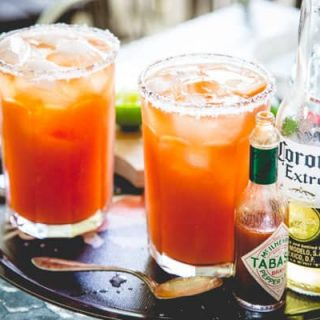 Here's how to make killer michelads by Healthy Seasonal Recipes, also known as red beer. It's a savory Tex Mex beer cocktail, served with ice, lime, hot sauce and tomato juice.