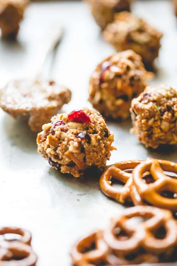 peanut butter pretzel energy balls