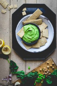 This protein packed, vegan, super green edamame hummus by Healthy Seasonal Recipes is bursting with nutrients and it's so delicious.
