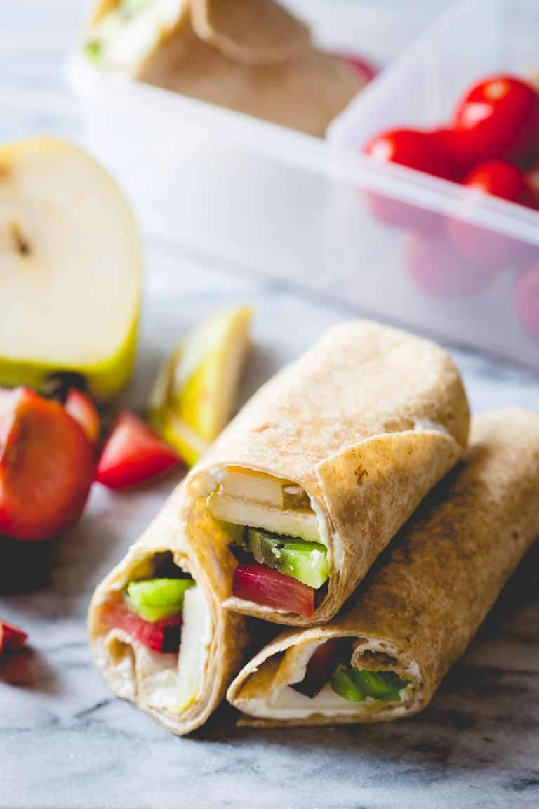 Easy Fruit And Cream Cheese Lunch Wraps