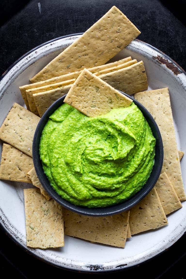green edamame hummus