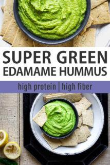 super green hummus collage