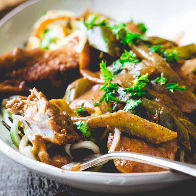 healthy chicken paprika skillet