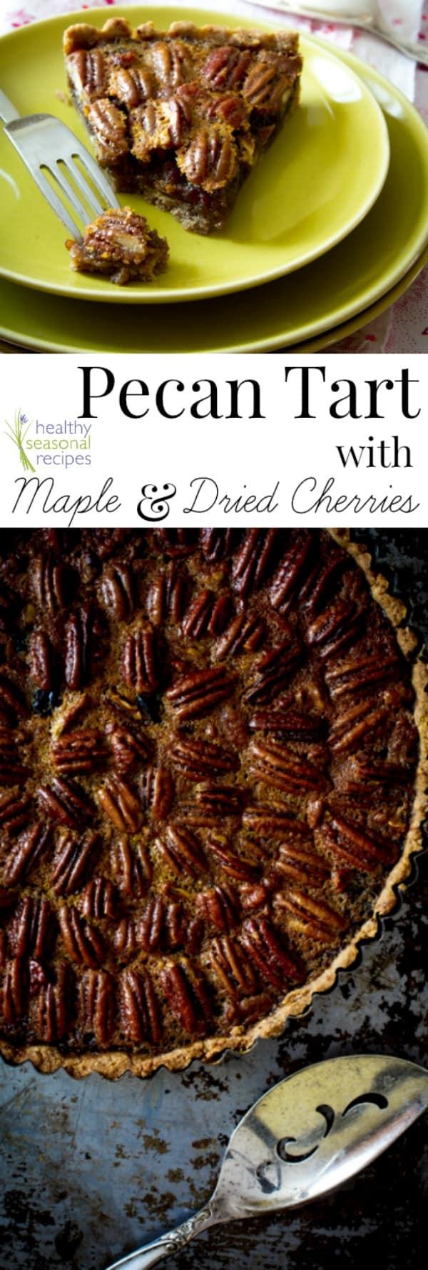pecan tart with text