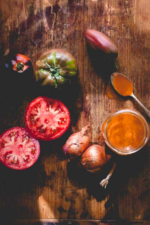 This Smoky Tomato Shallot Dressing by Healthy Seasonal Recipes has so much flavor, that you won't miss the extra fat.