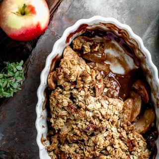 Healthy Apple Crisp Close up
