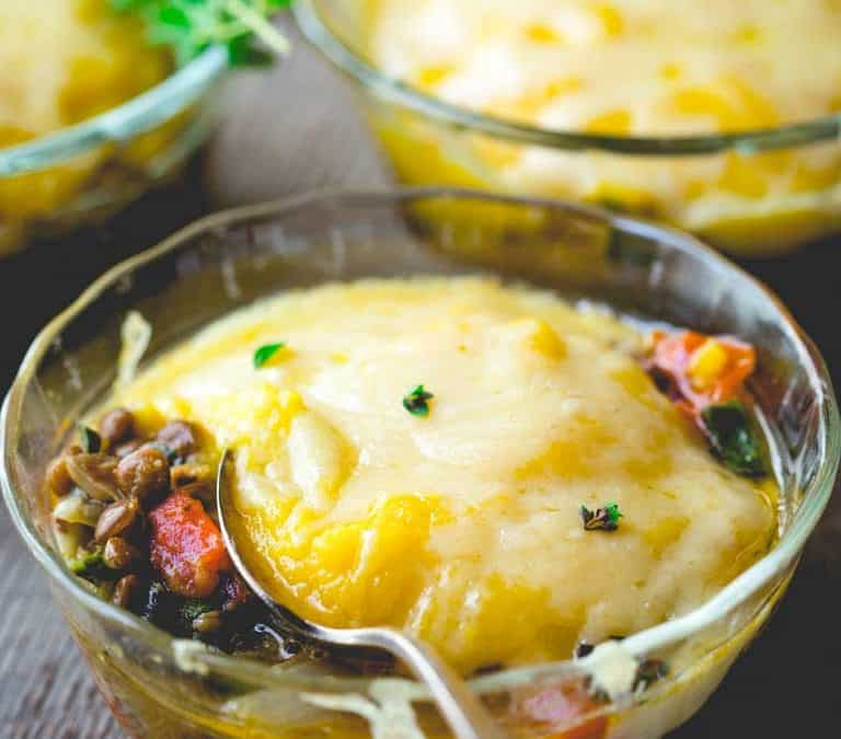 vegetarian shepherd's pie with butternut squash
