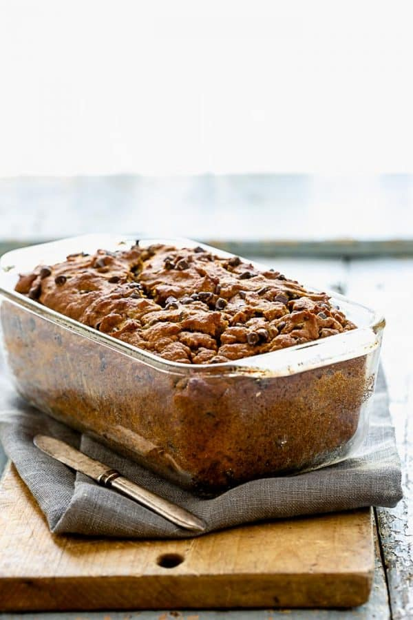 Pumpkin Chocolate Chip Bread on healthy seasonal recipes
