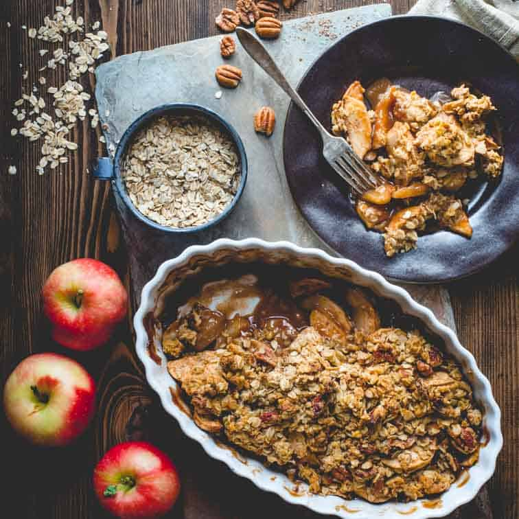 Maple Sweetened Healthy Apple Crisp Healthy Seasonal Recipes