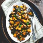 One Pan Squash and Apple Bake | Weeknight | Entree | Dairy Free | Chicken Sausage | 45 Minutes or Less | Healthy Seasonal Recipes