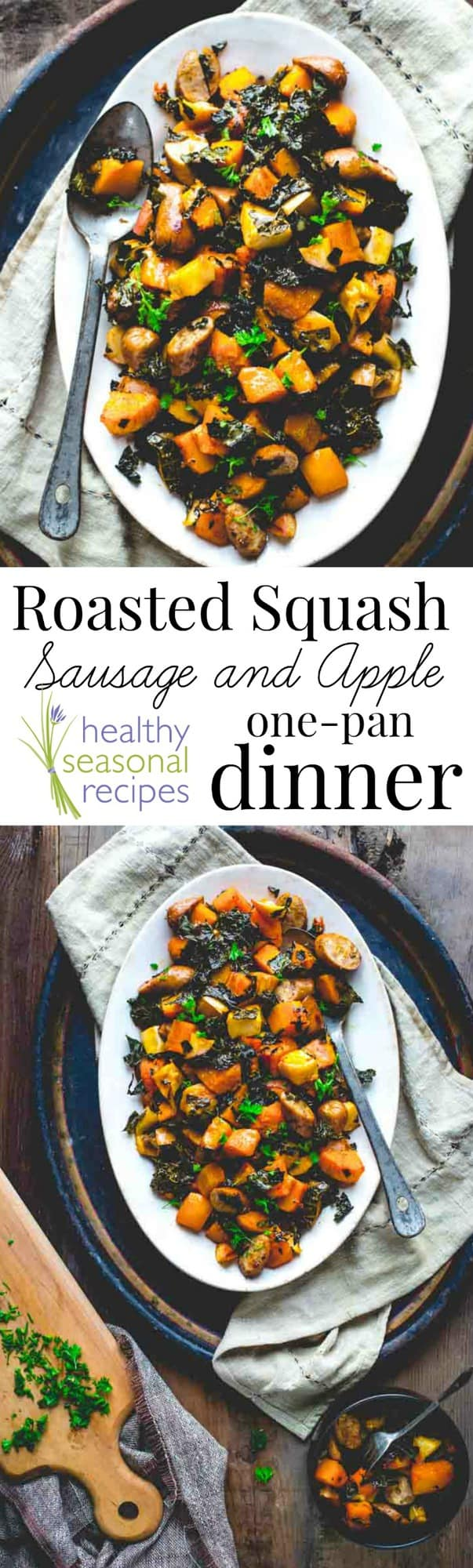 Roasted squash sausage and apple one pan dinner forumfinder