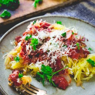 Spaghetti Squash Amatriciana | 30 minutes, low-carb and primal | Healthy Seasonal Recipes