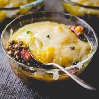 Vegetarian Shepherd's Pies with Butternut Squash | gluten free | grain free | comfort food | Healthy Seasonal Recipes