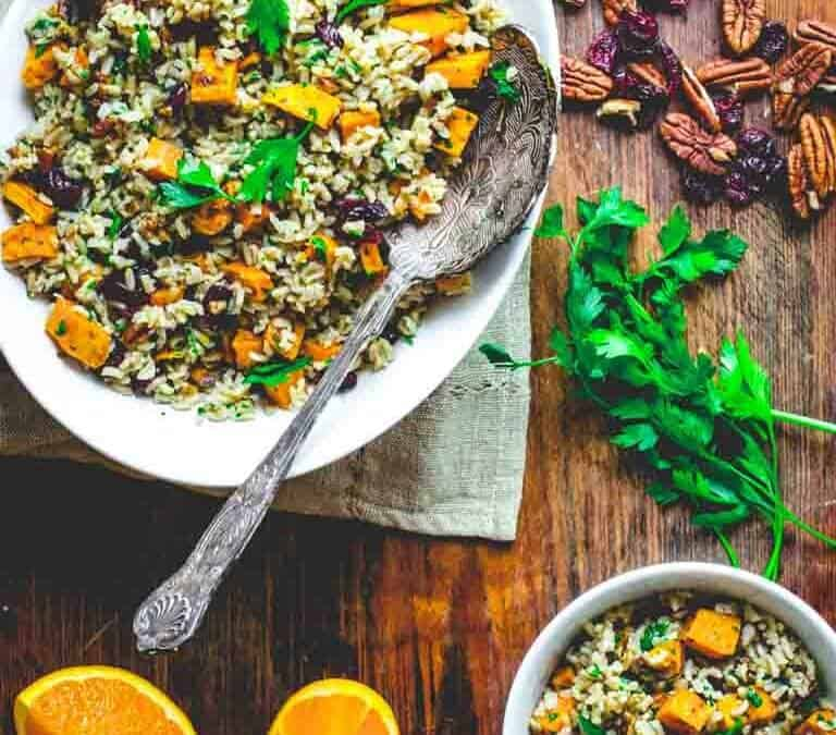 brown rice and sweet potato salad