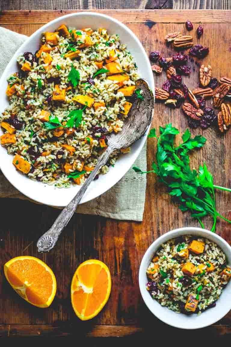 brown rice and sweet potato salad