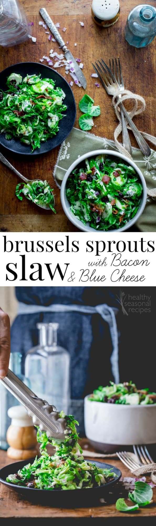 brussels slaw photo collage with text