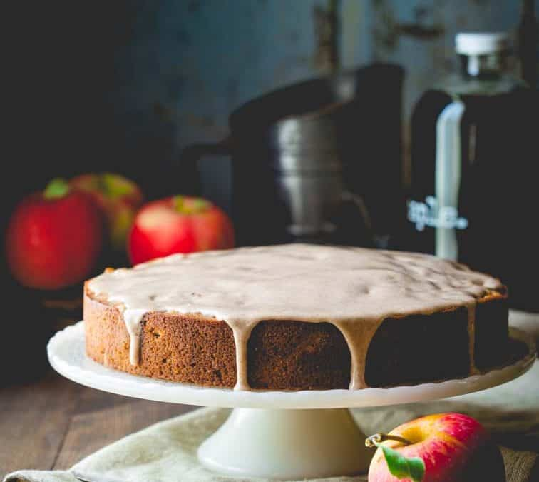 maple apple almond cake