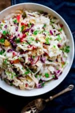 easy holiday slaw with apples and pomegranate