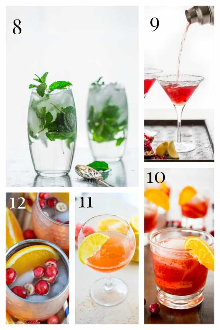 15+ Festive Winter Cocktails | Vodka | Tequilla | Gin | Cocktails | Winter | Healthy Seasonal Recipes | Katie Webster