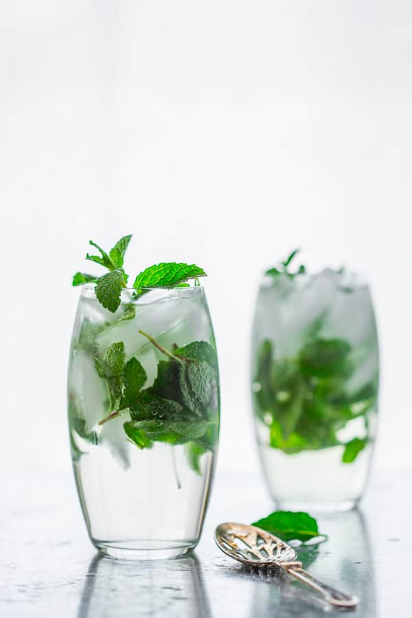 15+ Festive Winter Cocktails | maple mint vodka spritzer | Winter | Healthy Seasonal Recipes | Katie Webster